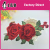 2017 3D Tridimensional Red Flower Patch/ Applique