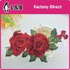 2017 3D Tridimensional Red Flower Patch/ Applique
