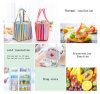 2017 Stripe Pattern Lunch Bags for Women Insulated Cold Canvas Drawstring Picnic Carry Case Thermal Portable Lunch Bag