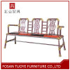 Orange Leather Golden Painting Outdoor Chaise Lounge