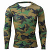 Mens Camouflage Compression Shirts Skin Tight Thermal Under Long Sleeves Crossfit Exercise Workout Fitness Sportswear