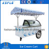Ce Approved Ice Cream Gelato Vending Display Cart