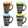 12oz Colorful Ceramic Stoneware Mug with Spoon