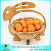 Non-Toxic Collapsible Bamboo Wooden Fruit Picking Basket with Handle