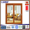 3D Wood Grain Color Sliding Door with Decoration Glass