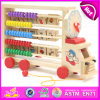 Multifunctional Wooden Abacus Alphabet Toy Truck, Educational Alphabet Abacus Toy Car W12c008