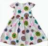 Hot Sale Girl Dress in Fashion Children Clothing with Half Cuff (SQD-112)