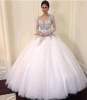 Gentle Women Beading Long Nice Wedding Dress in 2015
