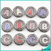 Hot Sell Alphabet Snap Buttons for Leather Bracelet Jewelry