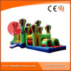Amazing Color Mixed Inflatable Bouncy Assault Obstacle Course T8-204