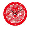 Home Decoration Chinese Red Wall Art Clock for Promotional Gift