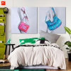 Modern Nude Woman with Handbag Canvas Prints