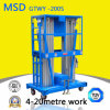 Hydraulic Lifting Platform Mast Type Aluminum Alloy Lift Gtwy6/8/9/10/12 M-200s Aluminum Lifting Table