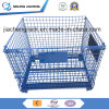Steel Heavy Duty Stackable and Foldable Wire Mesh Container for Warehouse