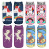 Europe New 3D Unicorn Printed Emoji Custom Boat Socks Factory