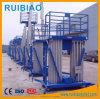 10m 12m Double Mast Aluminum Aerial Lift Working Platform