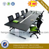 Metal Legs Office Table Wooden Meeting Conference Desk