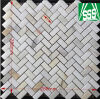 Natural White Carrara Marble Mosaic Tile for Kitchen and Bathroom Flooring