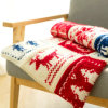 Classic Handmade Hand Knit Blanket Wool Throw Fair Isle England