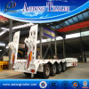 4 Axle Low Bed Semi Trailer, 80 Tons Low Flatbed Trailer Sale