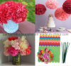 "4"" Eco-Friendly Decorating Tissue Paper Flower Ball for Wedding Party"