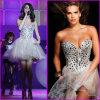 Sexy Min Tulle Prom Dress Rhinestones Diamonds Evening Dress Strapless Bridal Bridesmaid Prom Party Cocktail Dress Custom Red Carpet Dresses (HS15)