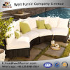 Well Furnir Wicker Low Profile 4 Piece Seating Group with Cushion J008