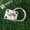 Stainless Steel Diamond Square Pad Eye with Ring