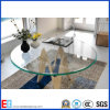 Home Used 8mm Tempered Glass Top Chromed Leg Dining Table