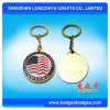 American Flag Keychain Coin Key Holder Metal Keychain Souvenir Gifts