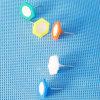 Coloured Plastic Hexagonal Push Pin (QX-HP004) 13*18mm Decoration