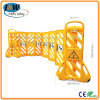 Yellow Portable Plastic Road Safety Expandable Barrier