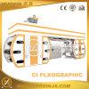 6 Colour Plastic Film Central Drum Flexography Printing Machine