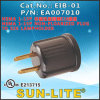 NEMA 1-15p to E26 Lampholder, Lampholder Adapter; Eib-01
