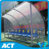 Economy Football Team Shelter/ Soccer Dugouts with Plastic Player Seats