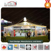 Large Gazebo Tent Hexagonal Wedding Tent with Clear Windows