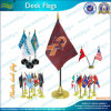 Customized Desk Flag with Golden Plastic Stand (J-NF09P04005)