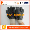 Ddsafety 2017 Black PVC Safety Gloves with Rough Finished Only on Palm