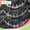 Woven and Knitting Nylon Sequins Black Mesh Chemical Lace Fabric
