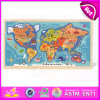 2015 Educational Kids World Map Puzzle, Children DIY Map Jigsaw Puzzle, Montessori Equipment Africa America Wooden Puzzles W14c140