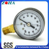 """40mm/1.5"""" Bottom Connection Manometer with Black Steel Case Brass Connector"""