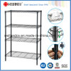 Black Light Duty Metal Storage Shelf Rack (LD9035137A4E)