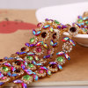Wholesale Rhinestone Close Cup Chain Crystal Strass Rhinestone Chain Trimming for Wedding Dress