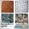 Sliced Polished Pebble Cutting Mosaic Tiles with Mixed Color Used in Garden Flooring