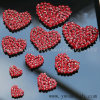 Custom Rhinestone Heart Embroidery 3D Patch Crystal Beads Applique for Clothing