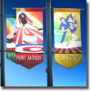 Outdoor Custom Street Hanging Drop PVC & Vinyl Flag Banner
