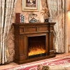 Modern Hotel Furniture Simple LED Lights Heating Remote Electric Fireplace (343)