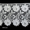 Wide Sunflower Pattern Lace Trimming, Polyester Border, White Ribbon L171