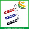 Customized Cheap Felt Fabric Embroider Keychains with Hook for Promotional