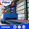Steel Plate Screw Conveyor Type Through Wheel Shot Blasting Machine